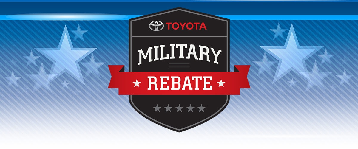Toyota Military Rebates header