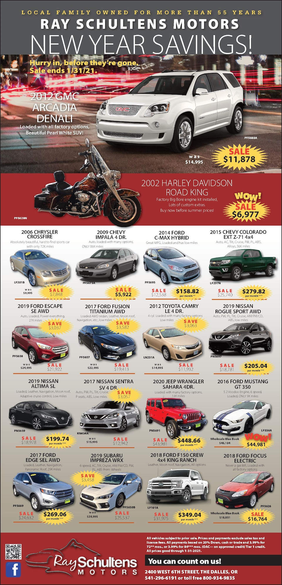 New Year Pre-Owned Savings!