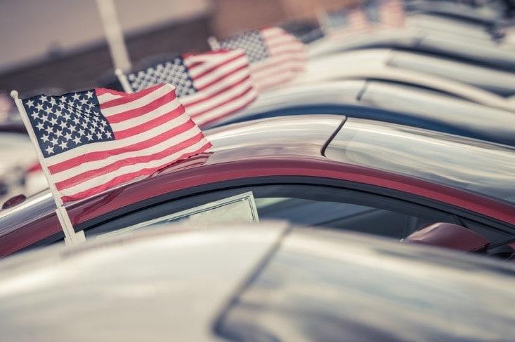 American Flag on Cars