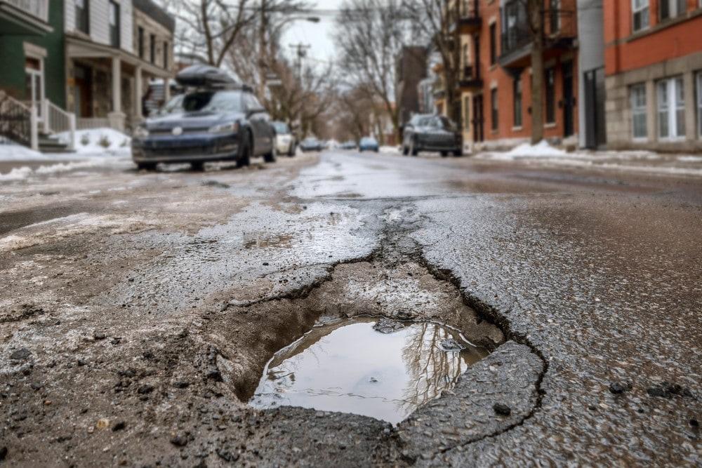 Pothole Full of Water