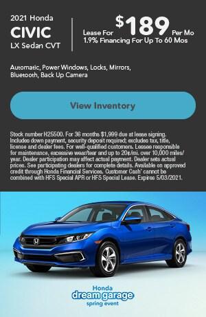 2021 Honda Civic LX Sedan CVT