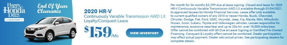 2020 Honda HR-V CVT - Loyalty Lease
