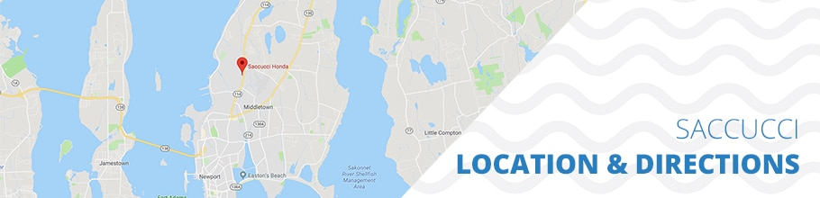 Location and Directions to Saccucci Honda in Middletown RI