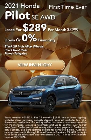 2021 Honda Pilot - Lease & 0% APR