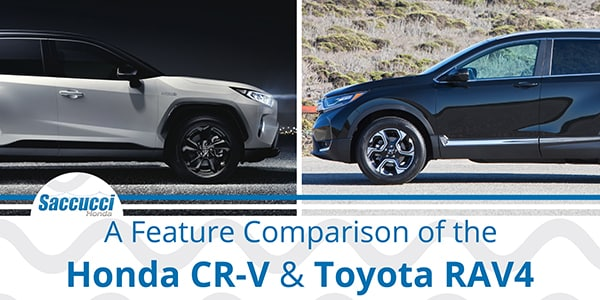 Feature Comparison of the Honda CRV and Toyota RAV4