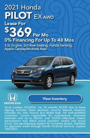 New Vehicle Specials Saccucci Honda