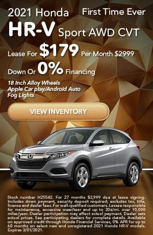 2021 Honda HR-V - Lease & 0% APR