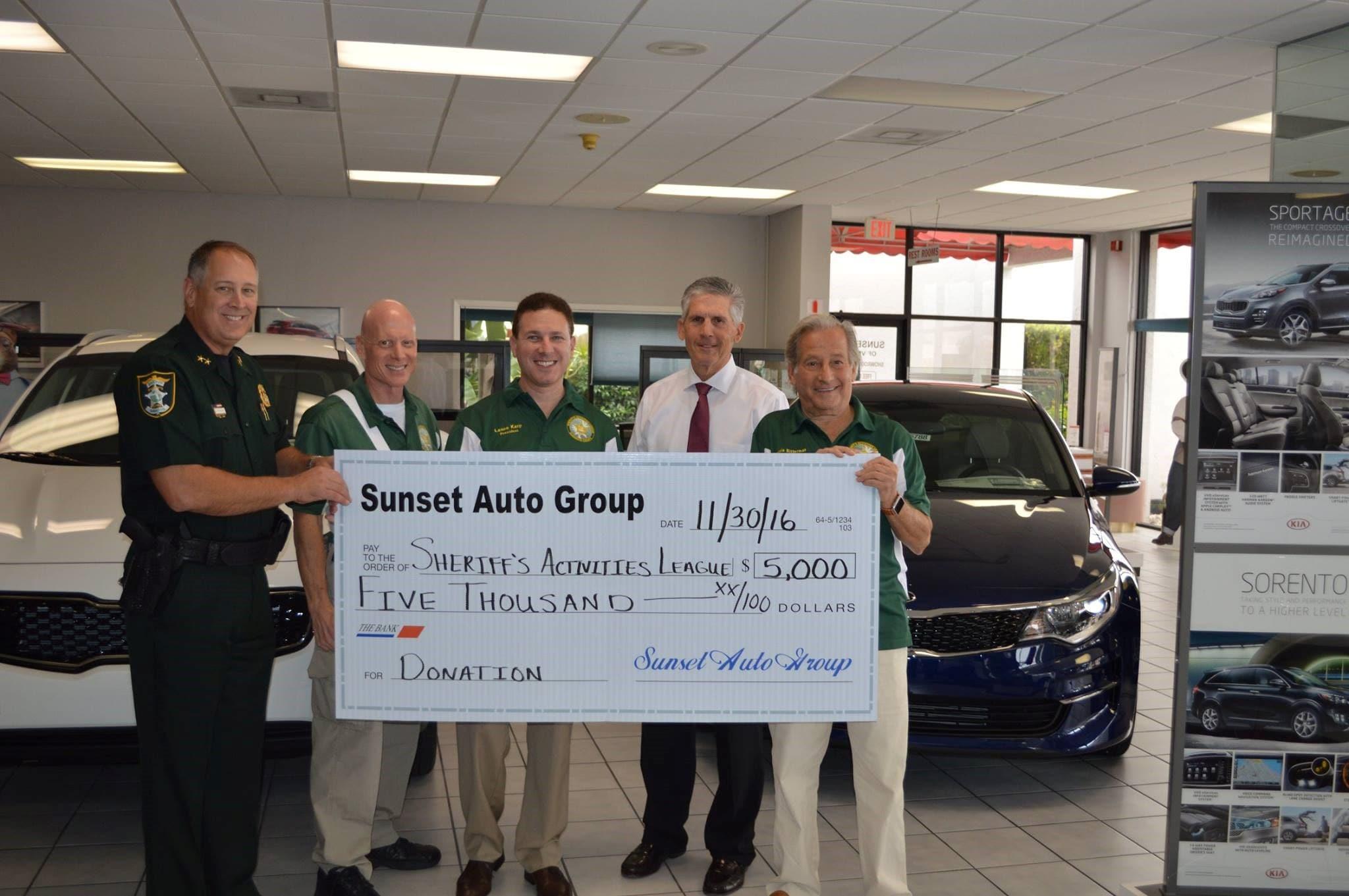 Sunset Gives Back Sunset Automotive Group