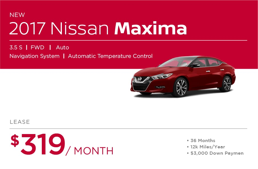 Nissan Maxima Special Offers