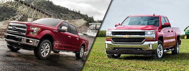 2017 Ford F-150 vs 2017 Chevrolet Silverado near Dubuque