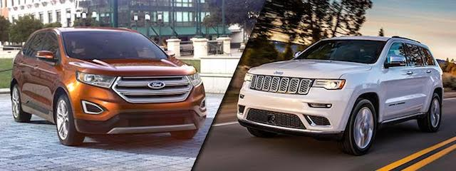 2017 Ford Edge vs Jeep Grand Cherokee near Cedar Rapids
