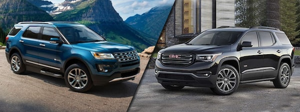 2017 Ford Explorer vs GMC Acadia near Dubuque