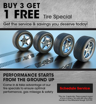 Buy 3 Get 1 Free Tire Special