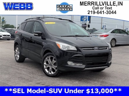 Used 2013 Ford Escape SEL SUV for sale in Merrillville, IN at Webb Mitsubishi