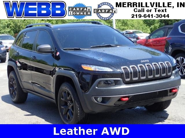 Used 2017 Jeep Cherokee Trailhawk SUV for sale in Merrillville, IN at Webb Mitsubishi