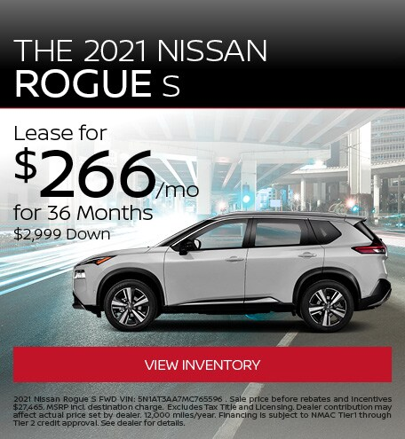 The 2021 Nissan Rogue S