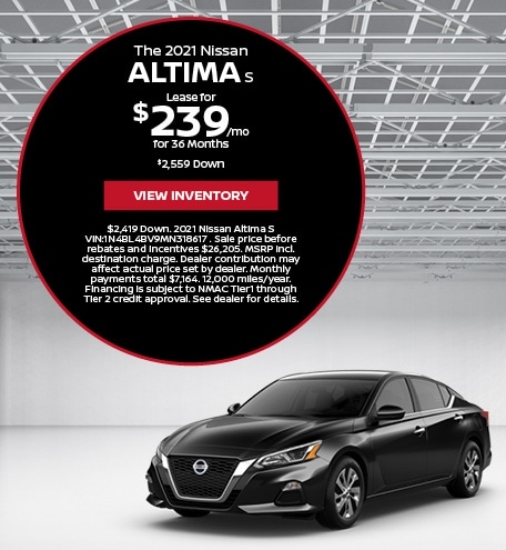 The 2021 Nissan Altima S