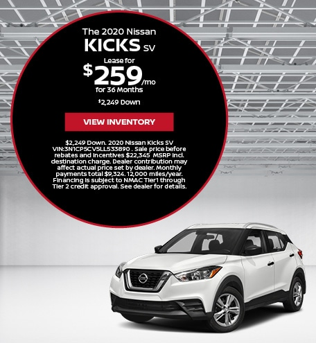 The 2020 Nissan Kicks SV