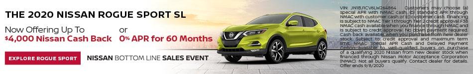 Nissan Rogue Sport Banner