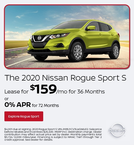The 2020 Nissan Rogue Sport S