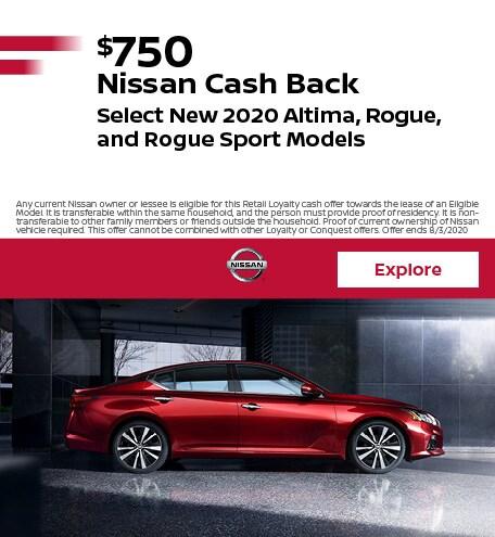 $750 Nissan Cash Back