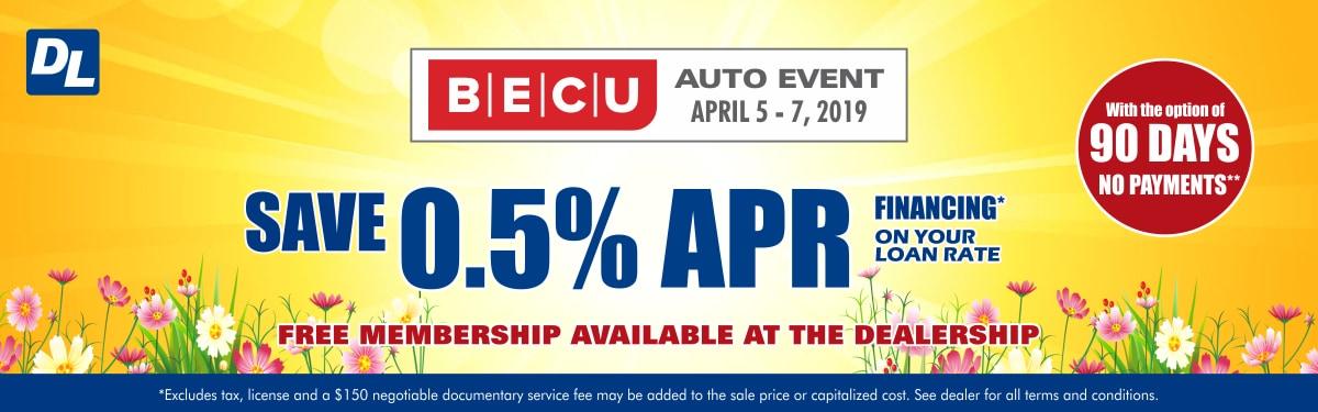 Dwayne Lane's BECU Auto Event - Discounted Car Loans | Dwayne Lane's