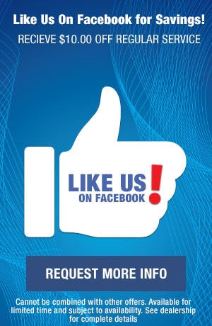 Like us on Facebook for Savings!