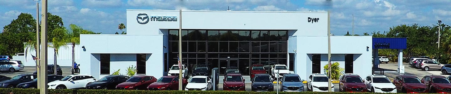 Dyer Mazda Dealership storefront in Vero Beach, South Florida