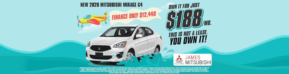 2020 Mitsubishi Mirage G4 Own For $188/Month