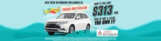 2020 Mitsubishi Outlander Own It For $313/Mo