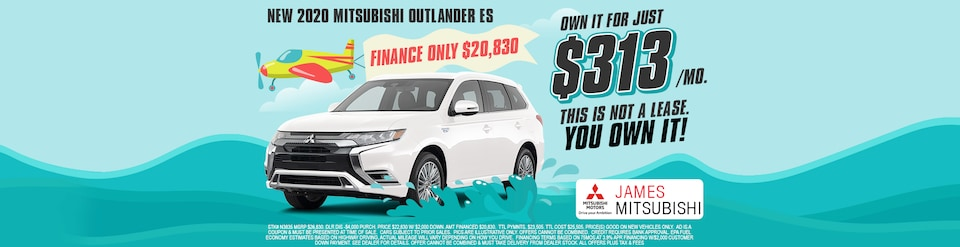 2020 Mitsubishi Outlander Own It For $313/Mo