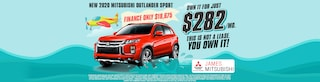 2020 Mitsubishi Outlander Sport Own It For $282/Mo