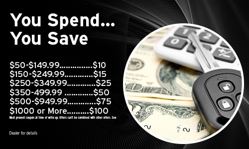 You Spend… You Save