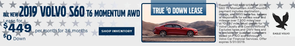 All New 2019 Volvo S60 T6 Momentum AWD