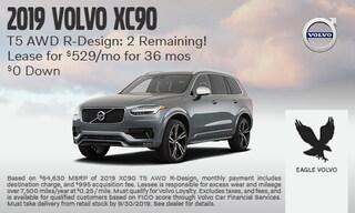 2019 Volvo XC90 T5 AWD R-Design: 2 Remaining!