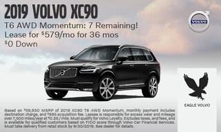 2019 Volvo XC90 T6 AWD Momentum: 7 Remaining!