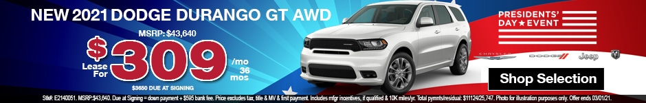 New 2021 Dodge Durango GT AWD