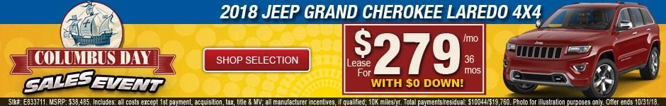 New 2018 Jeep Grand Cherokee Laredo 4x4