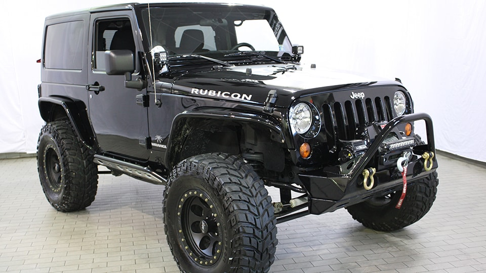 Custom Black Jeep Wrangler Rubicon  Eastchester Customs