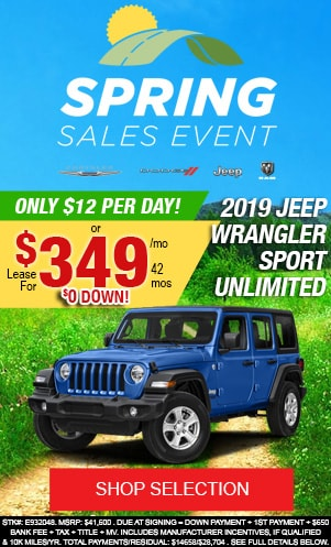 New 2019 Jeep Wrangler Sport Unlimited