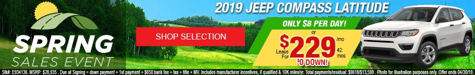 New 2019 Jeep Compass Latitude