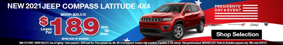 New 2021 Jeep Compass Latitude 4x4