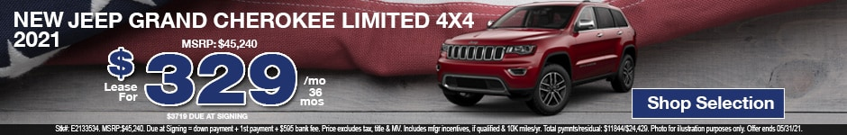 New 2021 Jeep Grand Cherokee Limited 4x4