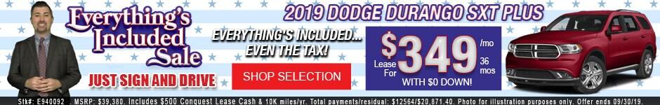 New 2019 Dodge Durango SXT Plus