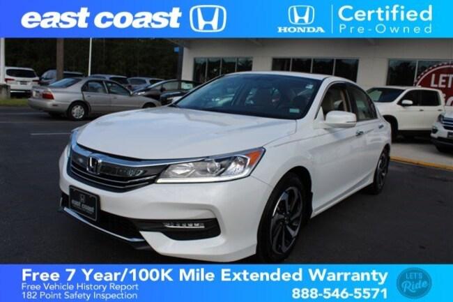 Certified 2016 Honda Accord EX-L 1 Owner, Low Miles Sedan Myrtle Beach, SC