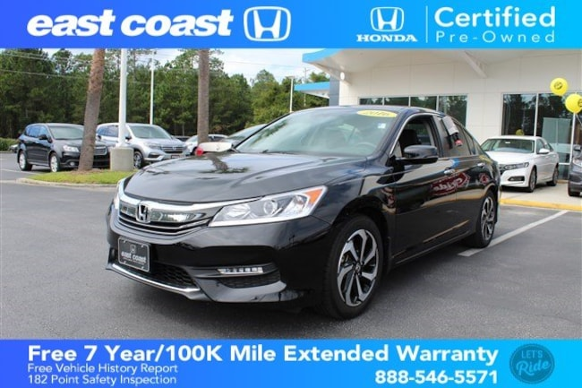 Certified 2016 Honda Accord EX-L 1 owner, Low Miles Sedan Myrtle Beach, SC
