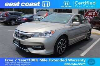 Certified 2016 Honda Accord CVT EX-L1 owner, Low Miles Sedan Myrtle Beach, SC
