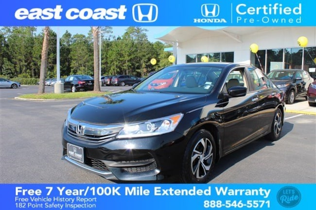Certified 2016 Honda Accord CVT LX 1 Owner, Low Miles Sedan Myrtle Beach, SC