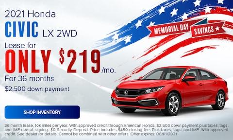 2021 Honda Civic LX 2WD