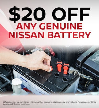 $20 off any Genuine Nissan Battery